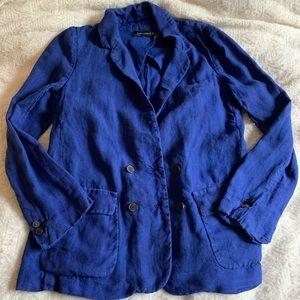 Zara Womens size Large blazer royal blue oversized